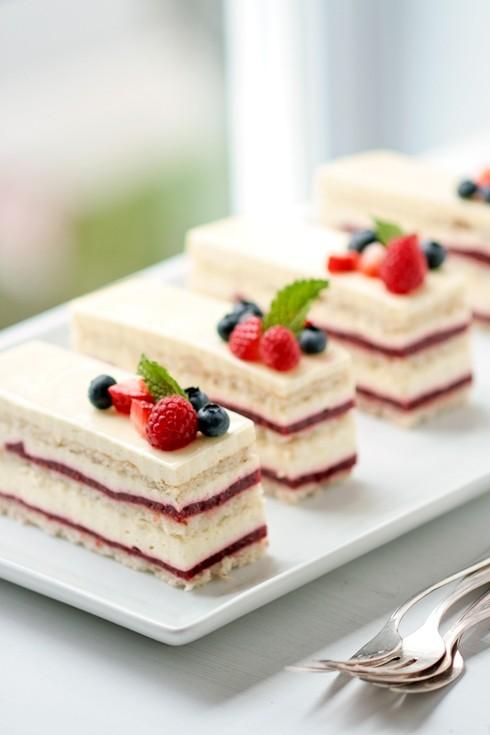 Raspberry Rose Vanilla Bavarian Cream Cake